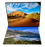 Sand Dunes in Namib Desert Park & Beach at Camps Bay, Cape Town, South Africa Set Posters by Ariadne Van Zandbergen
