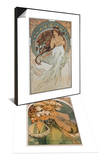 The Arts: Music, 1898 & Blume, 1897 Set Prints by Alphonse Mucha
