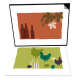 Beer & Chickens Set Prints by Anne Bryant