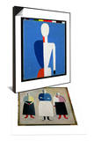 Torso, Transformation to a New Shape, 1928-32 & Three Little Girls, 1928-32 Set Posters by Kasimir Malevich