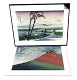 Ejiri in Suruga Province & Red Fuji or South Wind, Clear Sky Set Prints by Katsushika Hokusai