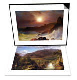 Coast Scene, Mount Desert & Heart of the Andes Set Art by Frederic Edwin Church