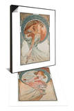 The Arts: Poetry, 1898 & The Arts: Painting, 1898 Set Prints by Alphonse Mucha