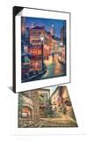 Night Stroll & Gallery Steps Set Prints by Sung Kim