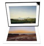 Bohemian Landscape & Ostra Preserve Set Posters by Caspar David Friedrich