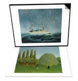 The Storm-Tossed Vessel, 1890-93 & In the Fields, 1910 Set Prints by Henri Rousseau