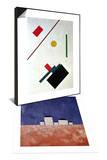 Suprematist Composition, 1915 & Landscape with Five Houses, c.1932 Set Posters by Kasimir Malevich