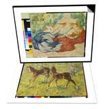 Cat on a Red Cloth, 1909/1910 & Fohlen Auf Der Weide, 1909 Set Prints by Franz Marc