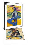 Blue Horse Ii, 1911 & Caliban. Figure for Shakespeare's 'the Tempest', 1914 Set Print by Franz Marc
