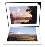 Catskill Creek & Cotopaxi, Ecuador [2] Set Posters by Frederic Edwin Church