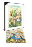 Alice Meets Caterpillar & Shower of Cards, Illustration from Alice in Wonderland Set Posters by John Tenniel
