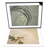Cymbidium Orchids & Green Peonies Set Prints by Minrong Wu