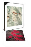Aroma of Early Spring & Chinese Hibiscuses Set Posters by Minrong Wu