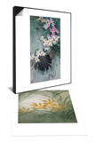 Floral Beauty in Tropical Region & Flower Series III - Cymbidium Orchids Set Art by Minrong Wu