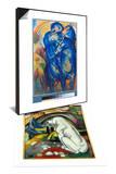 Tower of Blue Horses, 1913 & The White Dog (Hund Vor Der Welt), 1912 Set Prints by Franz Marc