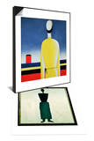 Torso in a Yellow Shirt, 1928-32 & Suprematist Female Figure, 1928-32 Set Art by Kasimir Malevich