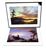 A Sunset & Above the Clouds at Sunrise Set Prints by Frederic Edwin Church