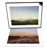 Bohemian Landscape & Ostra Preserve Set Art by Caspar David Friedrich
