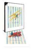 Airplane & Locomotive Set Art by Catherine Richards