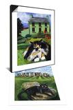 Persian Cat in Ireland (Chat Persan En Irland) & European Cat at Stonehenge/Great Britain Set Prints by Isy Ochoa