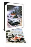 Mercedes Crash in the 1955 Le Mans Race & Niki Lauda Set Art by Graham Coton