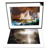 Iceberg & Morning in the Tropics Set Prints by Frederic Edwin Church