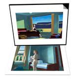Western Motel & Morning in a City Set Print by Edward Hopper