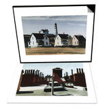 Lighthouse Hill, Cape Elizabeth, Maine & Roofs of Washington Square Set Posters by Edward Hopper