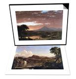 Mount Ktaadn (Katahdin) & New England Scene Set Poster by Frederic Edwin Church