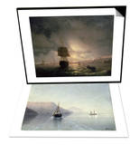 Harbour at Odessa on the Black Sea, 1852 & Calm, 1885 Set Posters by Ivan Konstantinovich Aivazovsky