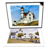 Captain Upton's House & House at Essex, Massachusetts Set Posters by Edward Hopper