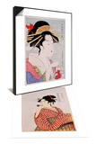 Beauty & Beauty Set Print by Kitagawa Utamaro