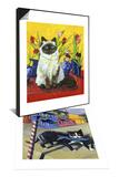 Cat and Tulips I (Chat Tulipes I) & Cat of Burano (Chat de Burano) Set Prints by Isy Ochoa