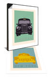 London - Cab I & New York - Cab Set Posters by Ben James