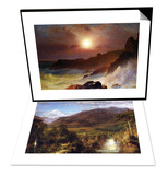 Coast Scene, Mount Desert & Heart of the Andes Set Posters by Frederic Edwin Church