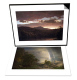 Twilight (Catskill Mountain) & The Aegean Sea Set Print by Frederic Edwin Church