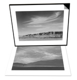 View South from Manzanar to Alabama Hills & View Sw over Manzanar, Dust Storm Set Posters by Ansel Adams