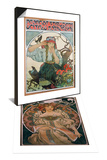 Poster 'Pevecke Sdruzeni Ucitelu Moravskych,' 1911 & Plakatgestaltung, 1897 Set Prints by Alphonse Mucha