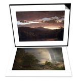 Twilight (Catskill Mountain) & The Aegean Sea Set Poster by Frederic Edwin Church