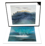 Clouds at Dusk & Starry Sky Set Print by Yunlan He