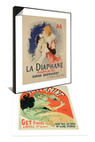 Reproduction of Poster Advertising La Diaphane & Reproduction of Poster Advertising Pippermint Set Prints by Jules Chéret