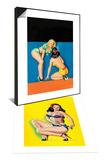 "Whisper Magazine; ""The Secret"" & Beauty Parade Magazine; Pinup in a Bikini Set Art by Peter Driben"