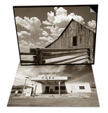 Fence and Barn & Gas Station and Cafe Set Print by Aaron Horowitz