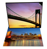 Verrazano Narrows Bridge at Dusk & Brooklyn Bridge and East River Set Prints by Alan Schein