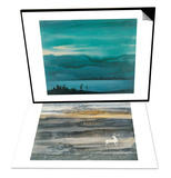 Lake & Deer Set Prints by Yunlan He