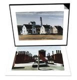 Lighthouse Hill, Cape Elizabeth, Maine & Roofs of Washington Square Set Posters by Edward Hopper