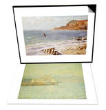 Seascape Sainte-Adresse & The Old Fort at Antibes Set Posters by Claude Monet