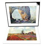 The Rocky Cliffs of retat (La Porte Man) & Tulips of Holland Set Prints by Claude Monet