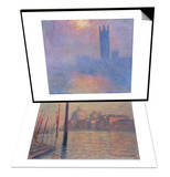 London Parliament in the Fog, c.1904 & Santa Maria della Salute and Canale Grande, Venice, 1908 Set Art by Claude Monet