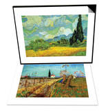 Cypresses & Path Through a Field with Willows Set Print by Vincent van Gogh